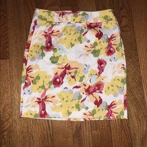J. Crew floral watercolor pencil skirt size 6